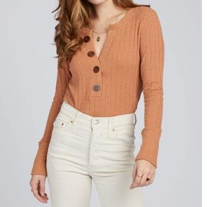 NWT FREE PEOPLE Oliver Henley TOP TERRACOTTA - S